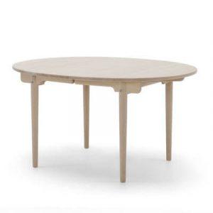 Carl Hansen CH337 - Rundt spisebord med udtræk til tillægsplader