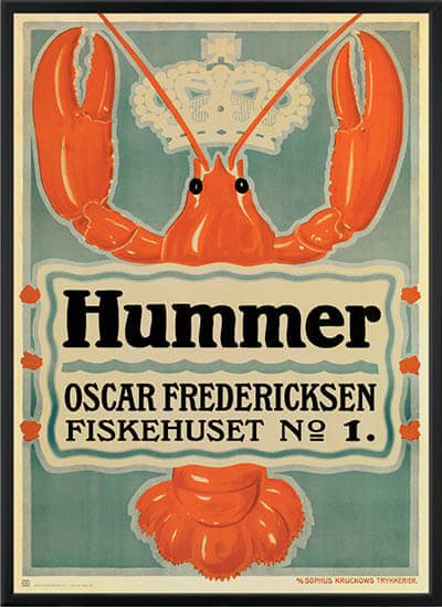 Fiskehuset Hummer plakatkunst