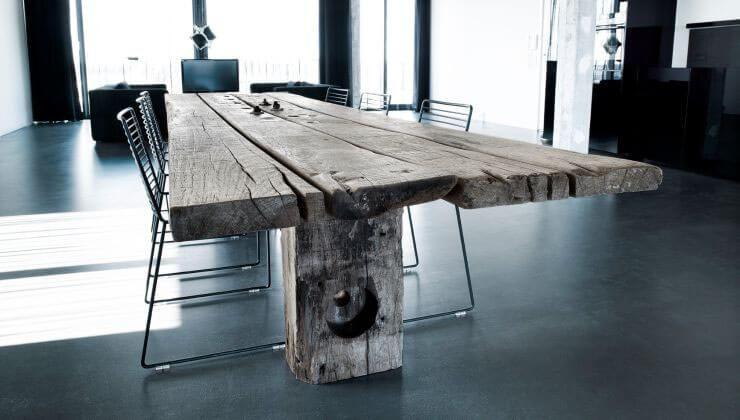 Gaia Spisebord af en planke fra Thors-design