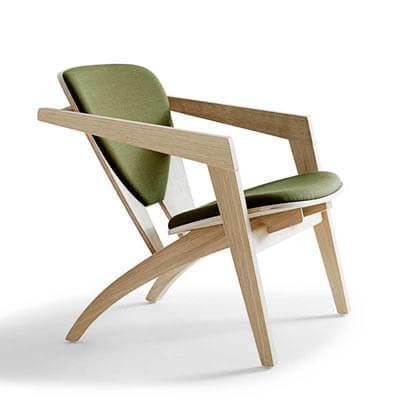 Grøn Butterfly lænestol af Wegner og Getama