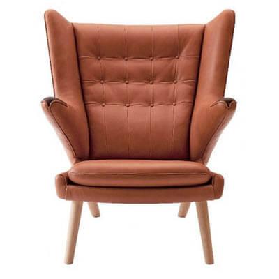 Læder Bamsestol af Wegner fra PP møbler