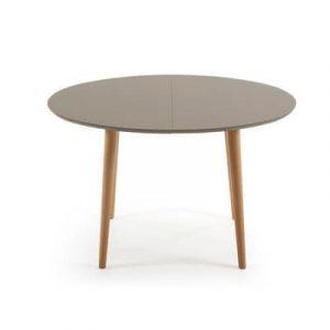 LaForma - Afrundet spisebord med to tillægsplader