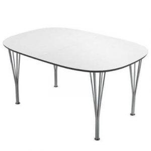 Lotus - Ovalt spisebord med runde kanter og 2 tillægsplader
