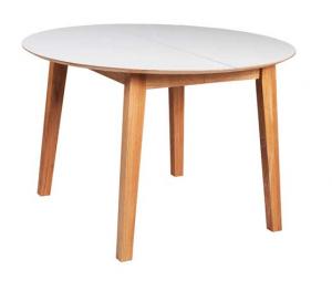 New Shape - Rundt spisebord af eg med udtræk