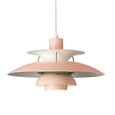 PH 5 contemporary farver pink rose