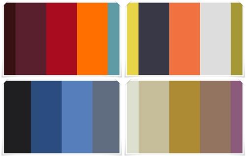 Flotte farve skemaer til indretning af stuen