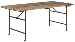 Rustikt langbord af træ fra Ib Laursen