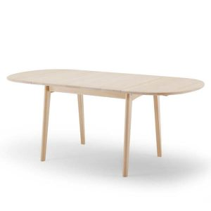 Rustikt spisebord med bordklapper fra Wegner