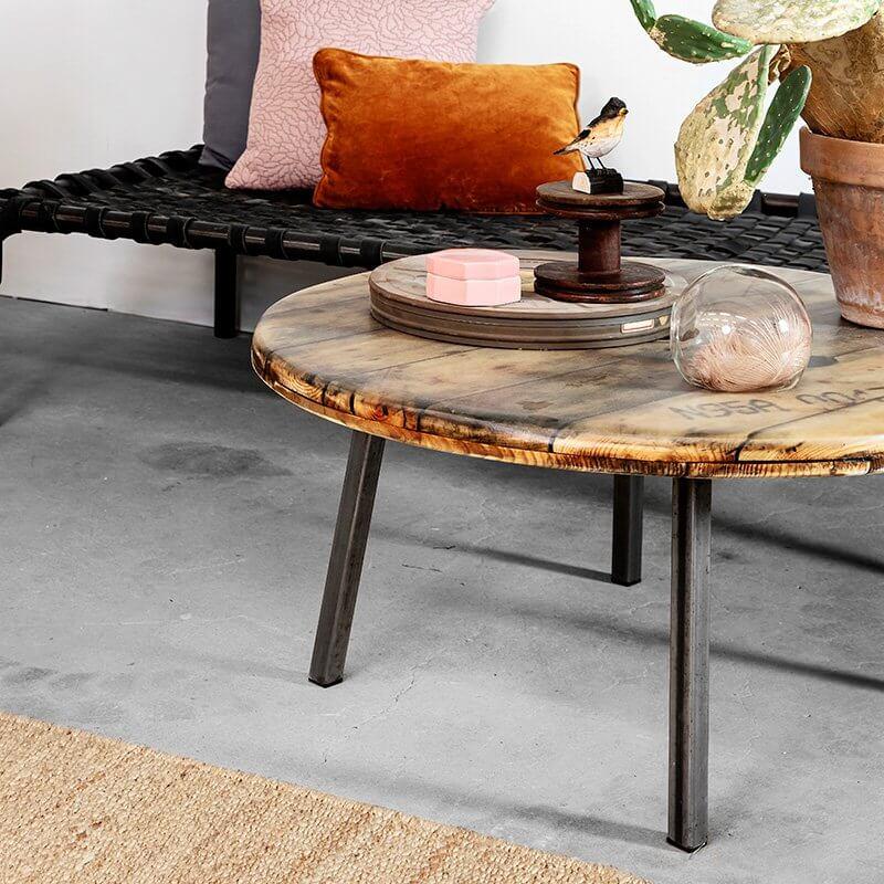 Sofabord af kabeltrommel