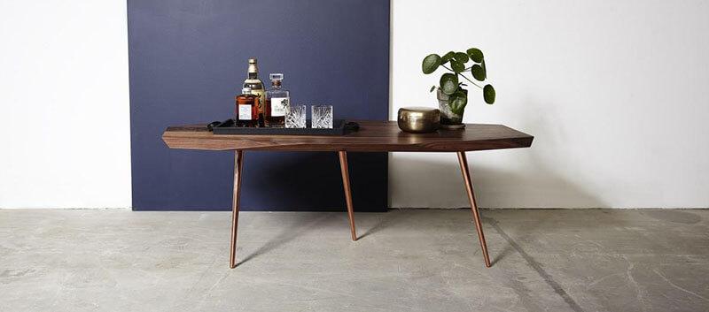 Spisebord af træ plankebord af Noyer