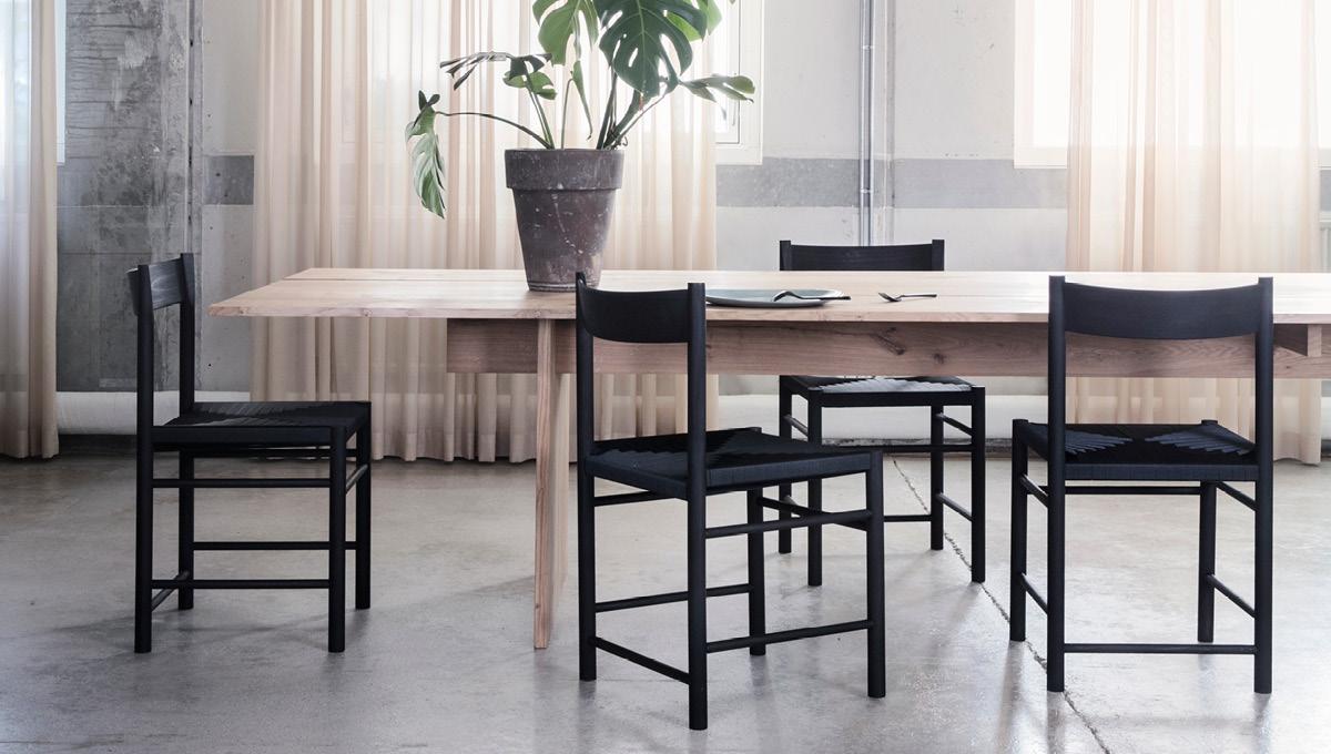 Spisebordsstol egetræ