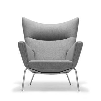 Wegner wing chair polstret stof Carl Hansen