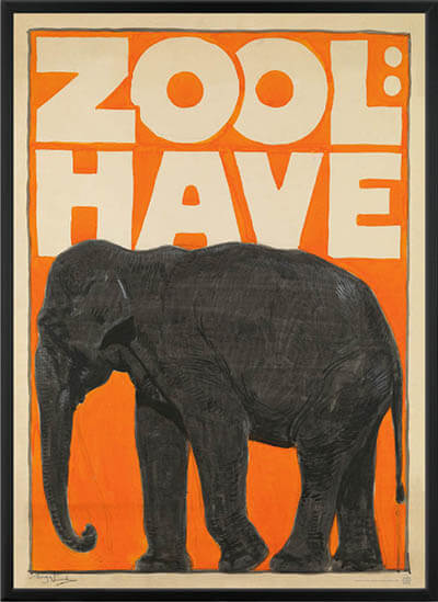 Zoologisk Have elefant plakat