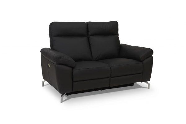 Selesta 2 pers. sofa - sort læder