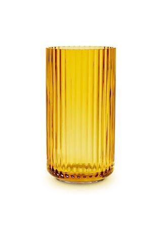 Lyngby Vase Amber Mundblæst Glas H15,5 cm