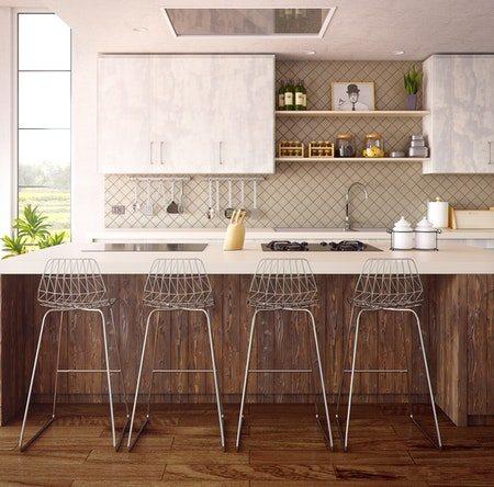 Design barstole i metal til køkken