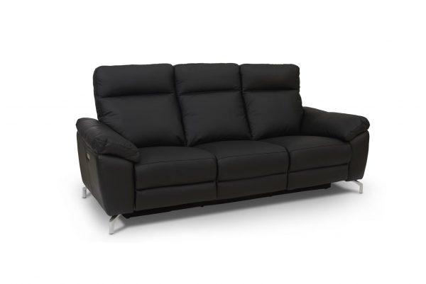 Selesta 3 pers. sofa - sort læder