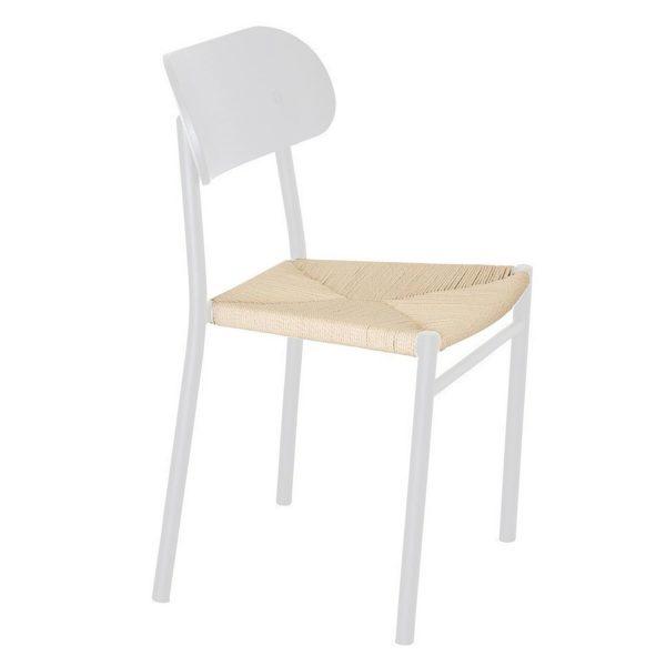 VENTURE DESIGN Polly spisebordsstol - hvid træ og hvid metal