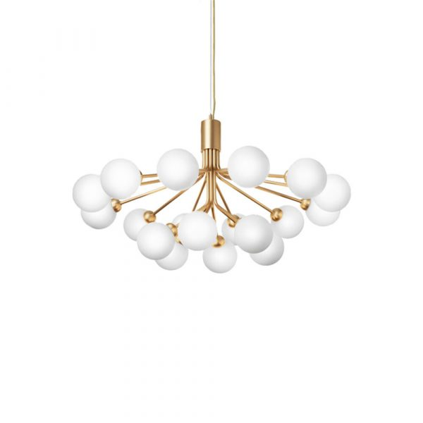 Apiales 18 Lysekrone Brushed Brass/Opal White - Nuura