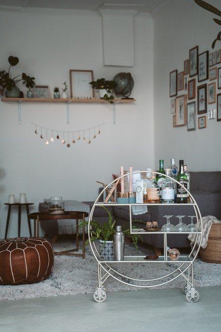 Bar rullebord med hjul i metal