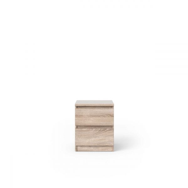 Naia sengebord - trøffel natur træ, m. 2 skuffer