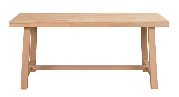 Brooklyn spisebord - børstet eg m. udtræk (170x95)