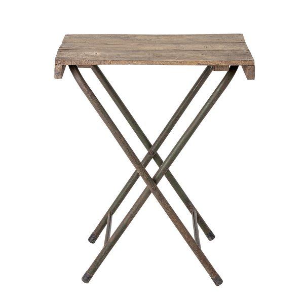 CREATIVE COLLECTION bakkebord - natur genbrugstræ og jern (67x50)
