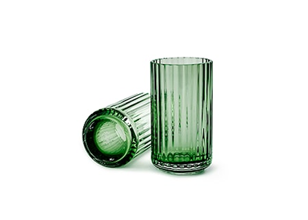 Lyngby Vase Copenhagen Green Mundblæst Glas H31 cm