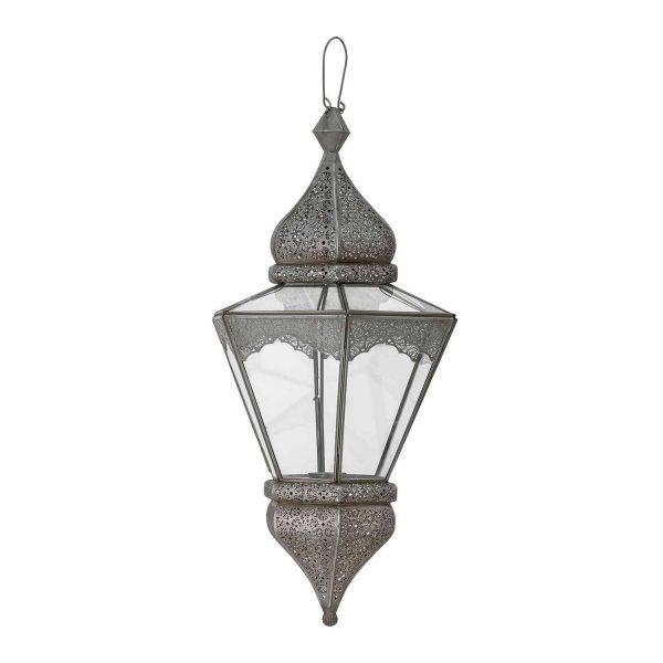 BLOOMINGVILLE Isabell lanterne, til ophæng - gråt metal og glas