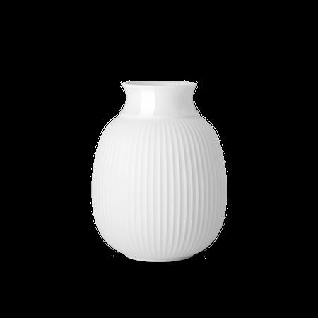 Kurve Vase Porcelæn Hvid 17,5 cm