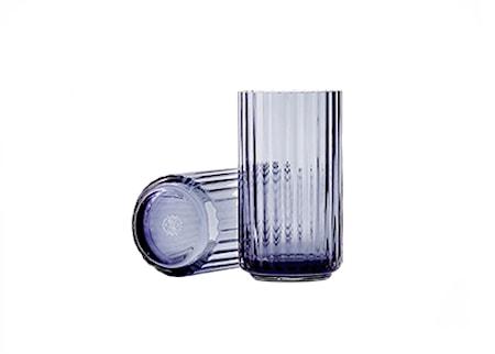 Lyngby Vase Midnight Blue Mundblæst Glas H38 cm