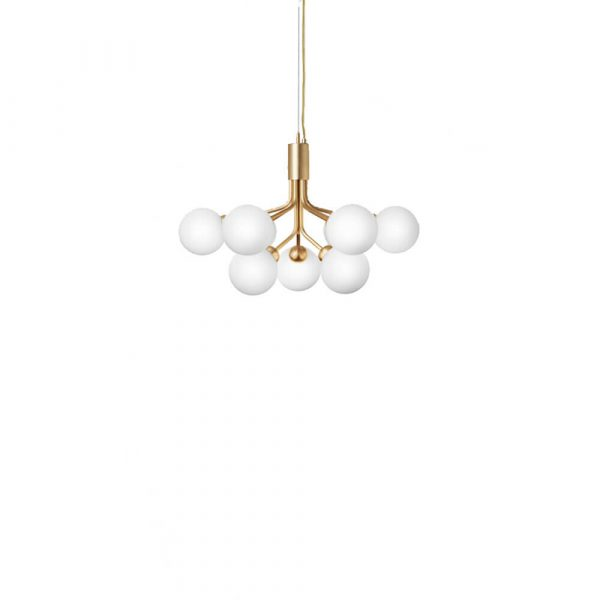 Apiales 9 Lysekrone Brushed Brass/Opal White - Nuura