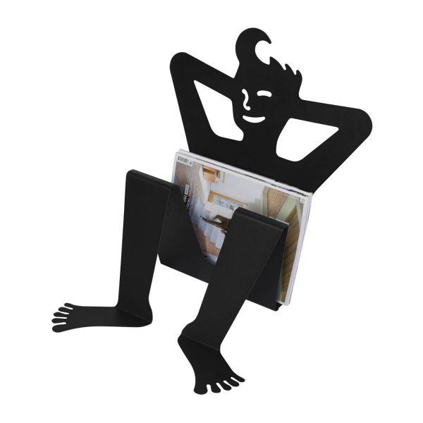 SPINDER DESIGN Zulu magasinholder - sort stål
