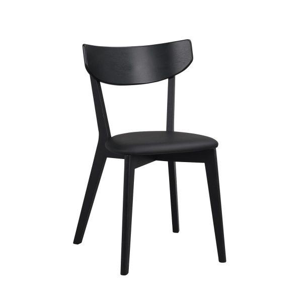 Rowico Ami spisebordsstol - sort PU og sort asketræ