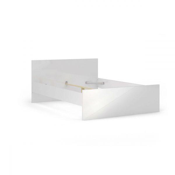 Naia sengeramme - hvid højglans (140x190)