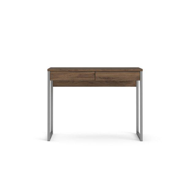 Function Plus skrivebord - valnød, m. 2 skuffer