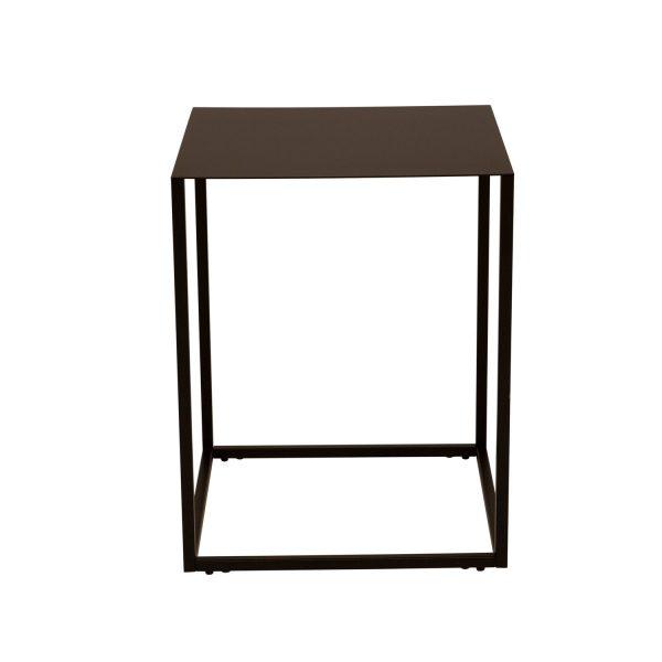 CANETT kvadratisk Lite hjørnebord - sort jern (40x40)