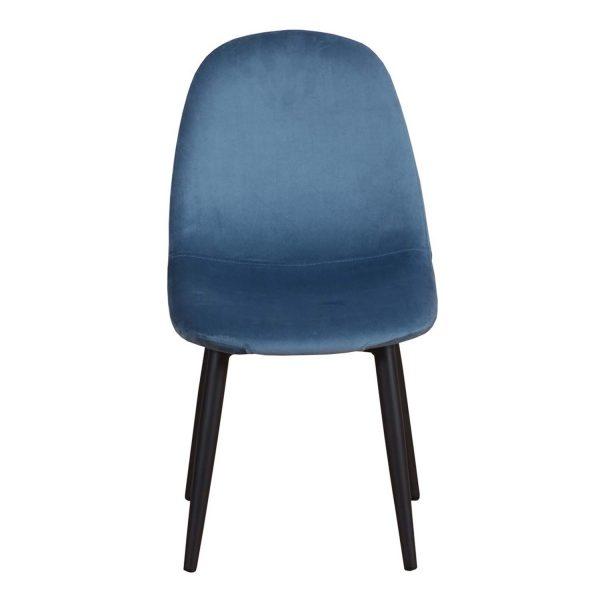 VENTURE DESIGN Polar Chair XXS spisebordsstol - blå velour og metal