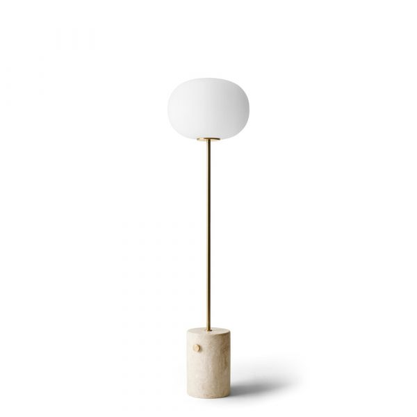 JWDA Gulvlampe Travertine Brushed Brass - Menu