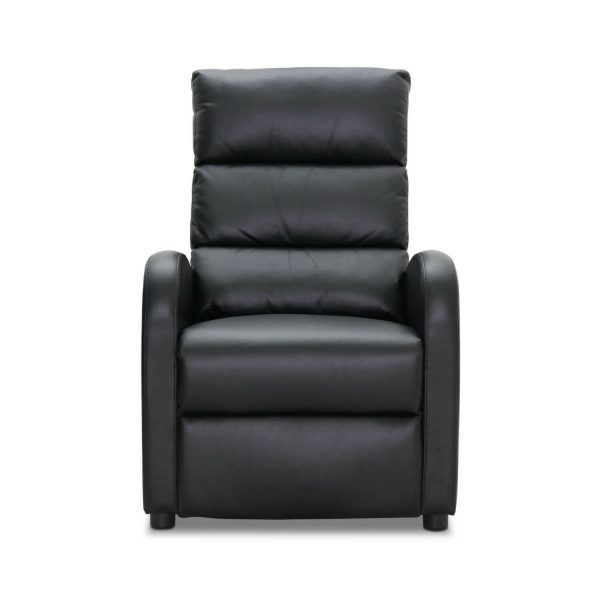 HAGA Berlin reclinerstol - sort læder PU