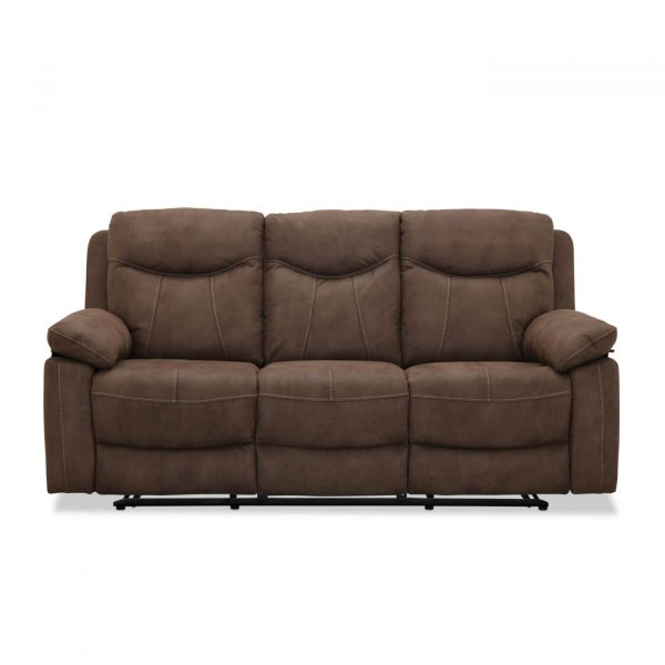 Boston recliner 3 personers Biograf sofa, Brun stof