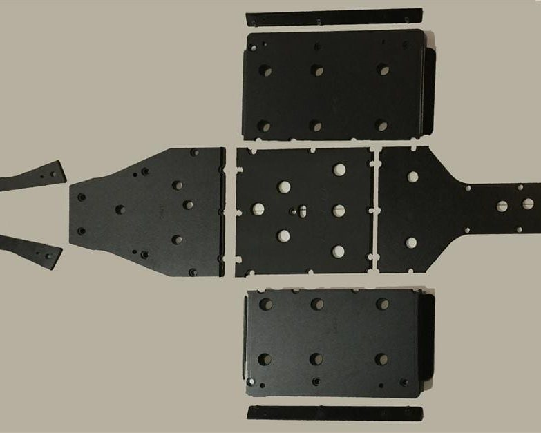 Polaris Ranger 570 Full Size Skid Plates With Sliders