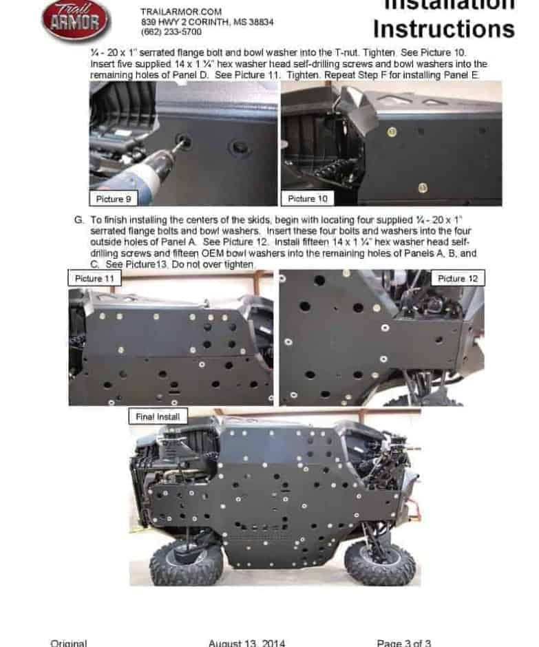 Can-am Commander Skid Plate With Integrated Sliders
