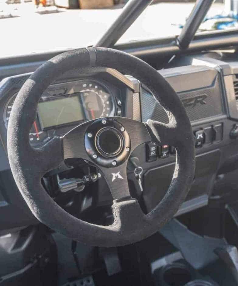 Black Suede Utv Steering Wheel