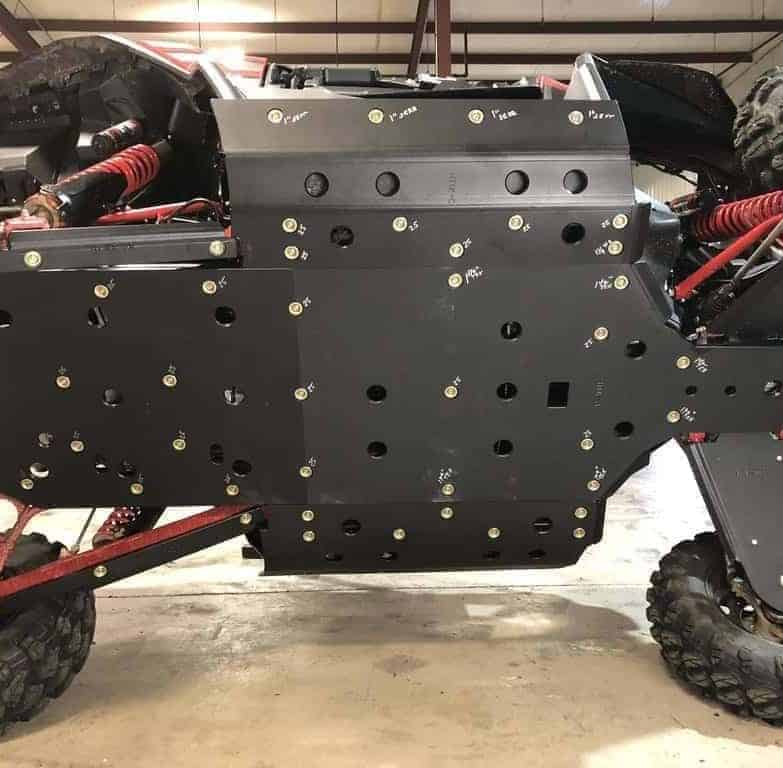 Honda Talon Full Skid Plates With Integrated Side Skid Plates