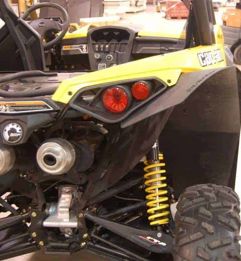 Can-am Maverick Mud Flap Fender Extensions With Underbed Mud Shield