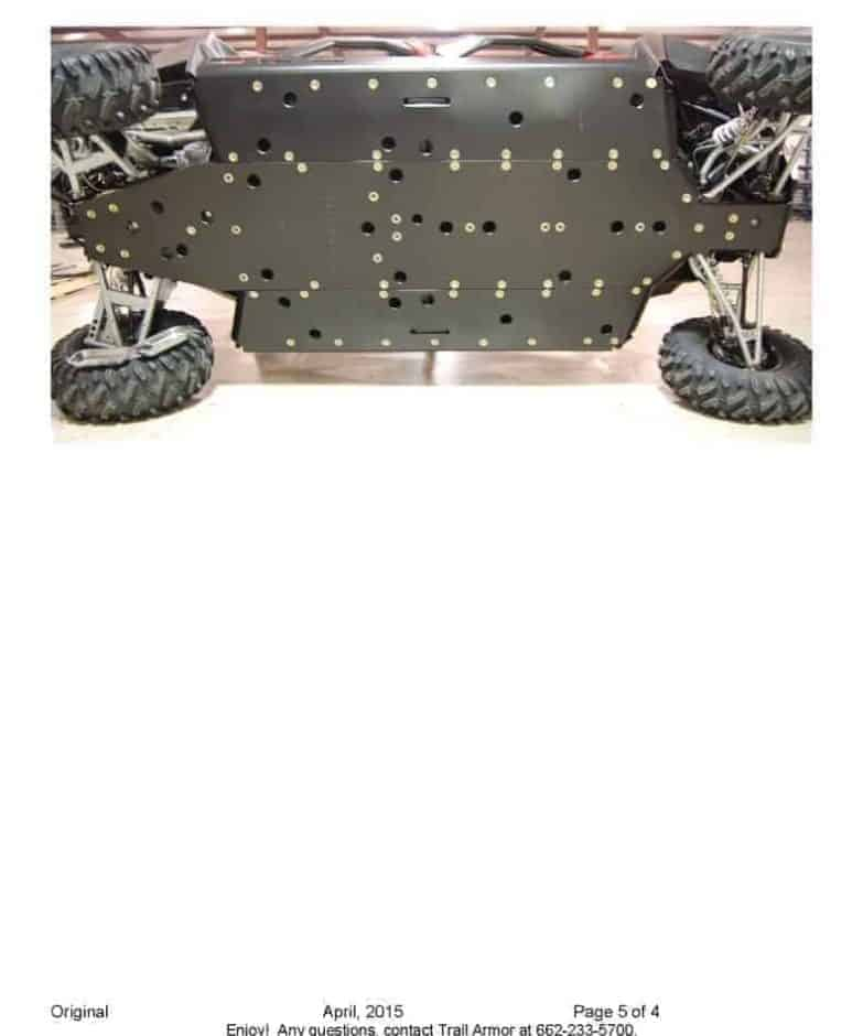 Polaris Rzr S 4 Series Full Skid Plate With Rock Sliders
