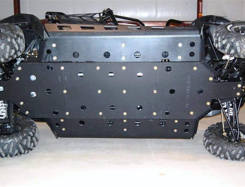 Polaris Rzr 4 800 Skid Plate With Slider Nerfs