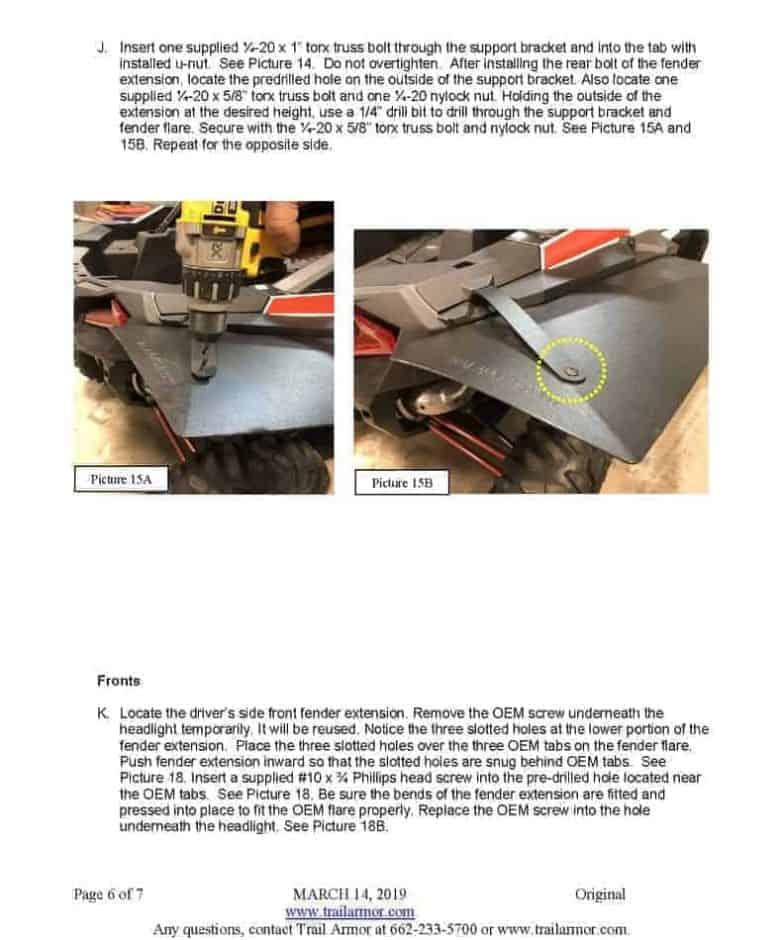 Polaris Rzr Xp Super Wide Mud Flap Fender Extensions