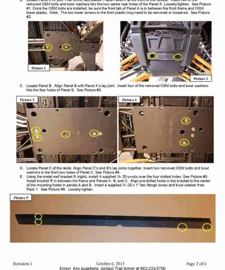 Polaris Rzr Xp 4 Series Full Skid Plate With Rock Slider